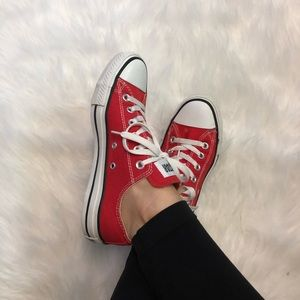 Red Low Top Converse Chuck Taylors